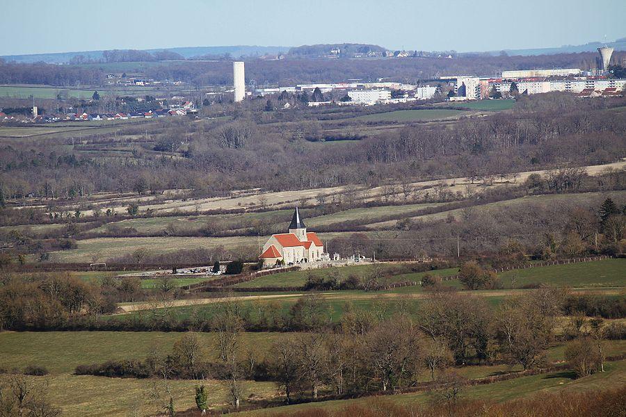 Église d'Island et faubourgs d'Avallon