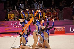 Israel Rhythmic gymnastics at the 2012 Summer Olympics (7915032648).jpg