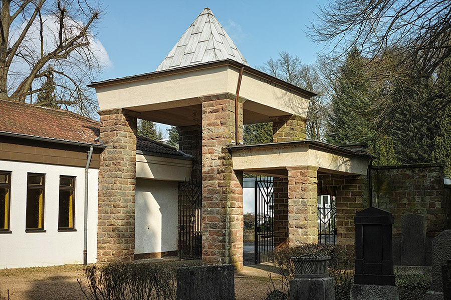 Eingangspavillon des jüdischen Friedhofs in Alt-Saarbrücken, zum Zollstock.