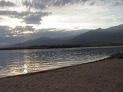 Issyk Kul at sundown