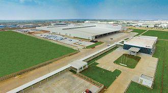 Isuzu Motors India - Isuzu Motors India manufacturing plant aerial view