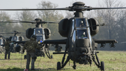 "Italian Army 5th Army Aviation Regiment ""Rigel"" A129 Mangusta attack helicopters"