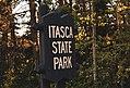 Itasca State Park Entrance Sign - Minnesota (40272154670).jpg