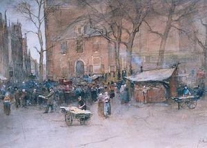 Jan Hillebrand Wijsmuller - Market at the Noorderkerk (North Church), Amsterdam