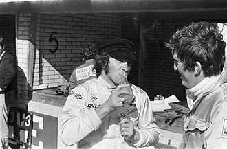 Lemonade - British Formula One motor racing driver Jackie Stewart drinking carbonated lemonade in 1969