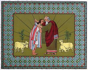 Jacob Blesses Joseph And Gives Him The Coat