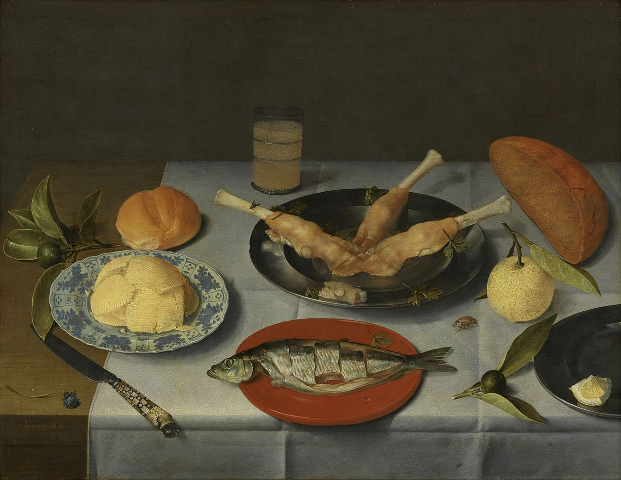 File jacob van hulsdonck breakfast piece with bread for Fish and cheese