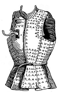 Armoured sleeveless jackets used by infantry in the Middle Ages