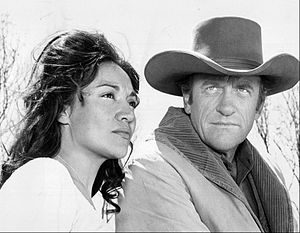 Míriam Colón - Colón and James Arness in Gunsmoke, 1970