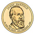 James Garfield $1 Presidential Coin obverse.jpg