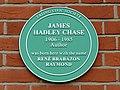 James Hadley Chase green plaque.jpg