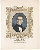 James K. Polk, 11th president of the United States - On stone by A. Newsam ; P.S. Duval, lith., Philada. LCCN93500962.jpg
