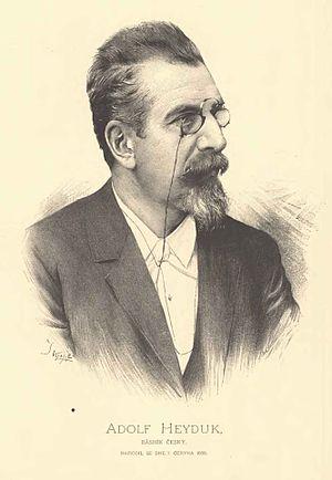 Adolf Heyduk - Portrait of Adolf Heyduk by Jan Vilímek.