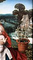 Jan provoost, madonna col bambino in un paesaggio, 1510 ca. 03 vaso di fiori.jpg