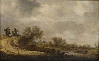 Landscape with Travellers by a River