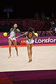 Japan Rhythmic gymnastics at the 2012 Summer Olympics (7915455868).jpg