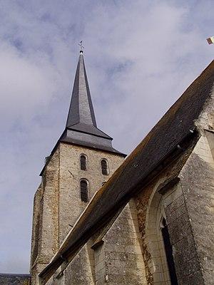 Jarzé - Belfry of the church of Sainte-Julitte