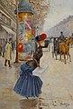 Jean Béraud, Jeune femme traversant le boulevard - Artvee.jpg