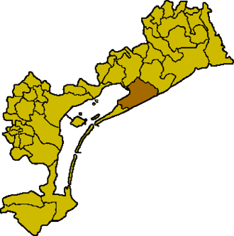 Jesolo - Location of Jesolo in the province of Venice.