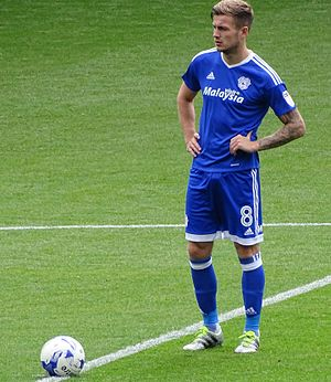 Joe Ralls - Ralls playing for Cardiff City in 2016