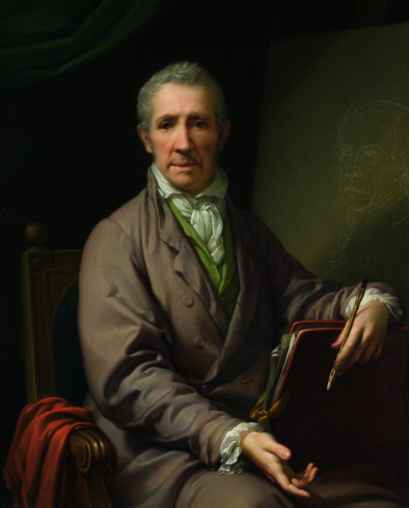 Johann Baptist Lampi d. Ä. - Selbstbildnis an der Staffelei - 3642 - Kunsthistorisches Museum.jpg