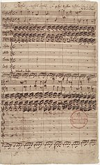Autograph of the first page of the St. John Passion