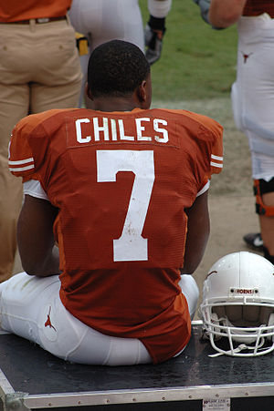 Texas Longhorns football - Image: John Chiles on sidelines of KSU at UT 2007