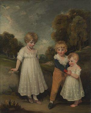 George Sackville, 4th Duke of Dorset - The Duke with his sisters in 1796, John Hoppner