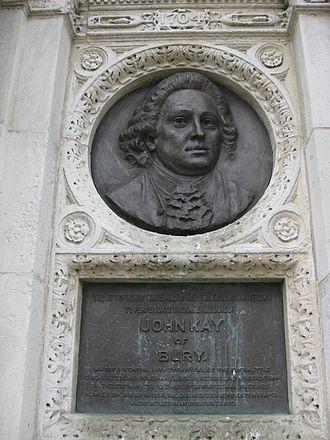 John Kay (flying shuttle) - Portrait inscription on the John Kay Memorial