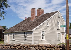 National Register of Historic Places listings in Quincy, Massachusetts - Image: John Quincy Adams birthplace, Quincy, Massachusetts