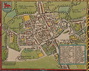 A map of Oxford, 1605.