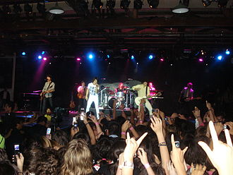 Jonas Brothers discography - Jonas Brothers performing at a concert in Mexico, April 18, 2008
