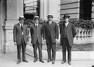 José Vasconcelos - José Vasconcelos (left) with José Urquidi, Rafael Zubarán Capmany and Peredo.