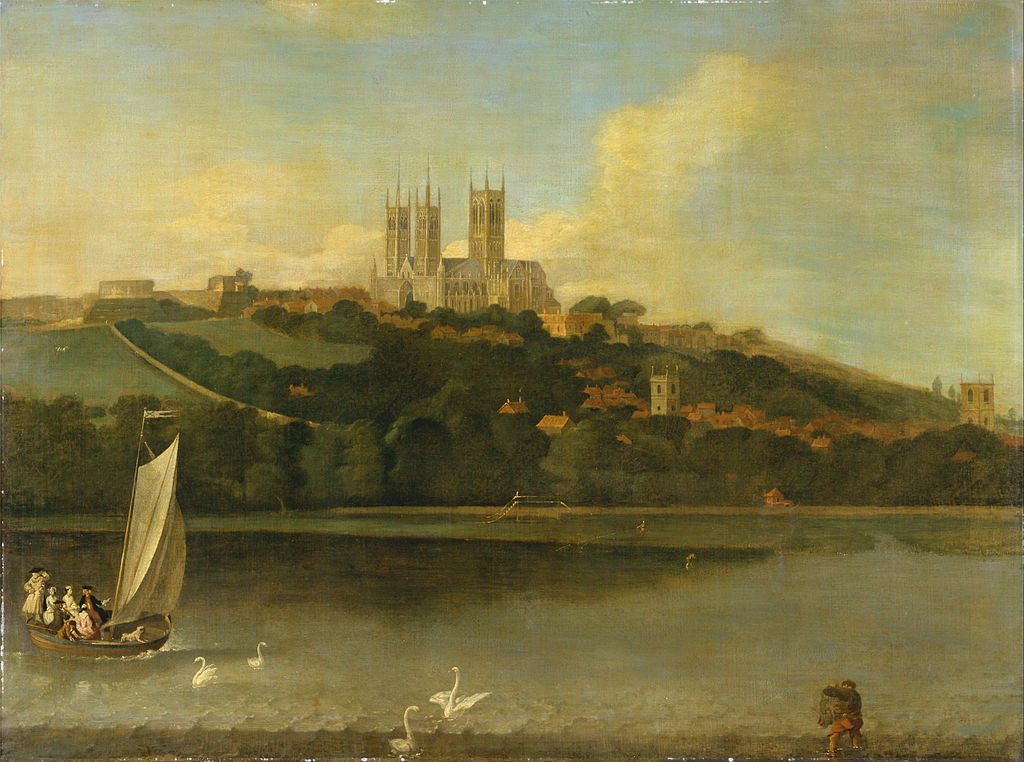 Joseph Baker of Lincoln - A View of the Cathedral and City of Lincoln from the River - Google Art Project.jpg