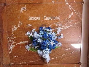 Joe Carcione - Carcione's vault at Holy Cross Cemetery
