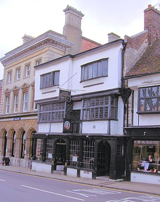 Dorchester, Dorset - Judge Jeffreys' lodging house, now a restaurant, in High West Street