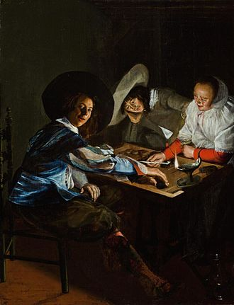 1630 in art - Image: Judith Leyster A Game of Tric Trac