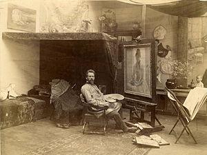 Julius Rolshoven - Julius Rolshoven in his Paris studio