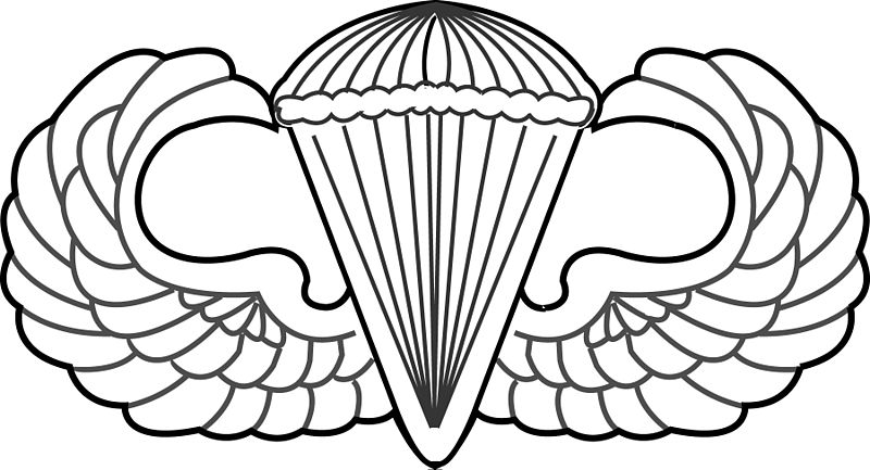 US ARMY AIRBORNE WINGS BASIC 8 INCH STICKER/DECAL - MADE IN THE ...