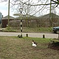 Junction by pond, Upham, with ducks - geograph.org.uk - 135998.jpg