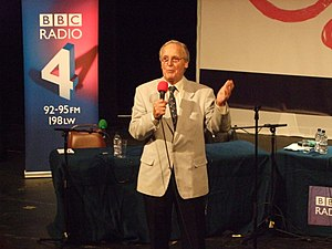 Just a Minute - Nicholas Parsons during a recording at the Pleasance, Edinburgh.