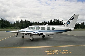 Qualicum Beach Airport - KD Air Piper Navajo