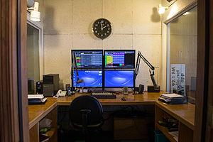 KWVR-FM - KWVR booth