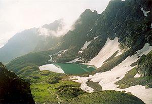 Kaçkar Mountains - Libler Gölü seen from Kırmızı Gedik.