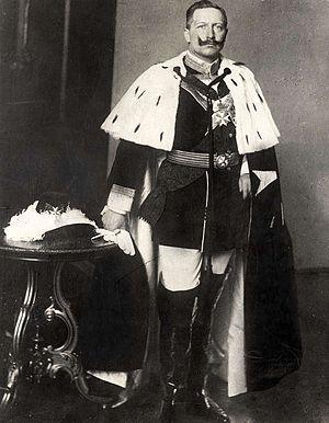 Order of Saint John (Bailiwick of Brandenburg) - German Emperor William II in ceremonial robes as Protector of the Order of Saint John