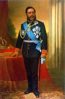 Kalakaua, painting by William Cogswell, Iolani Palace.jpg
