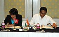 Kamal Nath and the Federal Councillor, Department of Economic Affairs of the Swiss Confederation, Ms. Doris Leuthard signing a Memorandum of Understanding (MOU) between the Ministry of Commerce & Industry.jpg