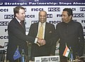 "Kamal Nath and the Trade Commissioner, European Union, Mr. Peter Mandelson at the interactive meeting on ""India-EU Strategic Partnership Steps Ahead"" jointly organised by the Federation of Indian Chambers of Commerce & Industry.jpg"