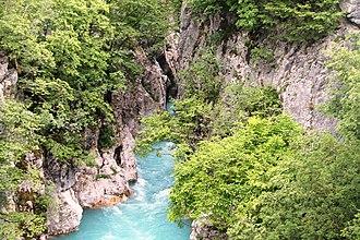Valbona (river) - Image: Kanjoni i Lumit Valbona