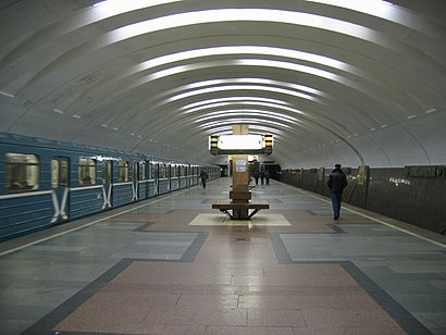 How to get to Кантемировская with public transit - About the place
